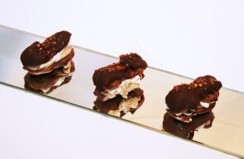 Banános csokis mini ecler